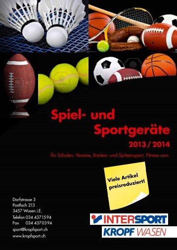 Spiel- und Sportgeräte - Kropf Sport