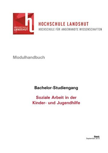 Modulhandbuch Bachelor-Studiengang Soziale Arbeit in der Kinder ...