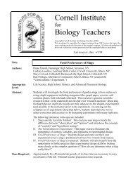 Food Preferences of Slugs - Explore Biology