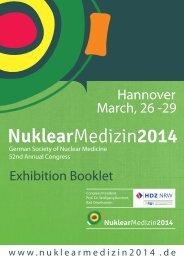 NUK14 Exhibition booklet - Nuklearmedizin 2014