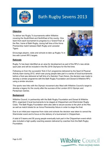 Bath Rugby Sevens 2013 - Wiltshire Council