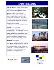 Israel Reise 2013 - Israel Rundreise