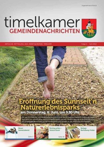 Eröffnung des Sunnseit'n Naturerlebnisparks Eröffnung ... - Timelkam