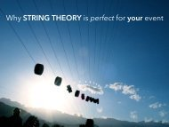 String Theory Brochure - Galvanize Asia