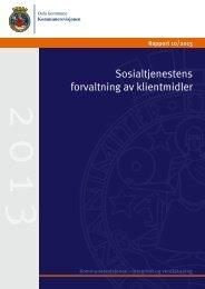 Sosialtjenestens forvaltning av klientmidler - Kommunerevisjonen
