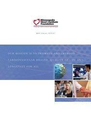 2011 Annual Report - Minneapolis Heart Institute Foundation
