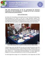 Informationen auf der Jahrestagung 2013 - GBS Initiative e.V.