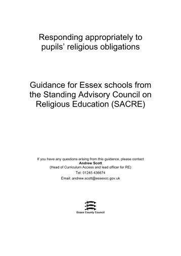 Guidance - Essex County Council