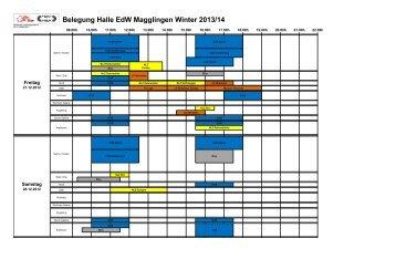 Belegung Halle EdW Magglingen Winter 2013/14 - NLZ Bern ...