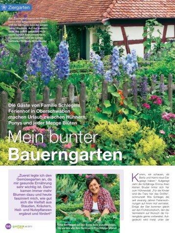 Bericht in der Garten Spaß - Ferienhof Schlegel