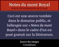 SN - Notes du mont Royal