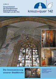 kreuz+quer Ausgabe 03/2013 (pdf) - Evangelische ...