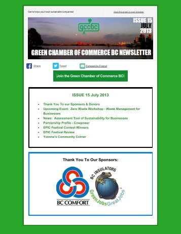 GCCBC Newsletter Issue 15 – July, 2013 - Green Chamber of ...