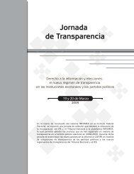 Jornada de Transparencia, Derecho a la información y elecciones