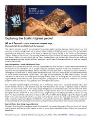 Mount Everest • Guided ascent of the Southeast ... - Mountain Gurus