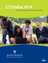 General Information - Johns Hopkins Center for Talented Youth ...
