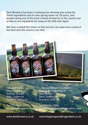 60812 Tasting Notes.indd - The George & Dragon Hotel