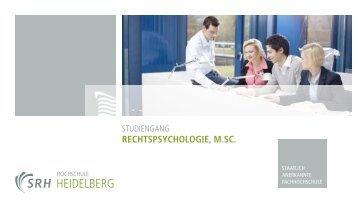 RecHtSpSycHologie, M.Sc. - SRH Hochschule Heidelberg