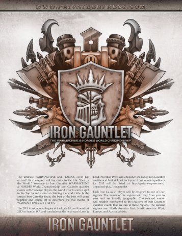 The ultimate WARMACHINE and HORDES event ... - Privateer Press