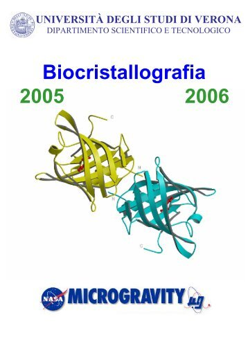 Dispense di Biocristallografia (pdf, it, 832 KB, 3/7/06)