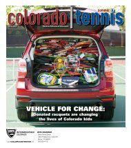 vehicle for change: - the Colorado Tennis Association
