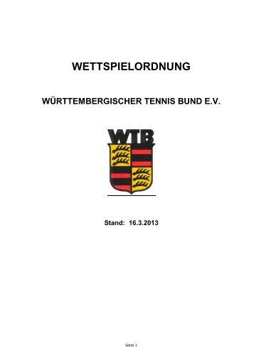 Wettspielordnung 2013 - WTB