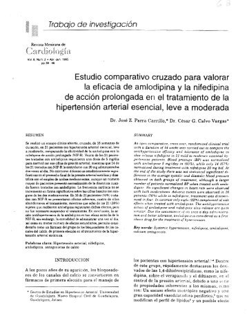 Estudio comparativo cruzado para valorar la eficacia de amlodipina ...