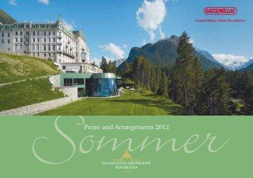 Preise und Arrangements 2012 - Grand Hotel Kronenhof