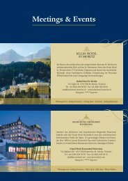 Meetings & Events - Kulm Hotel