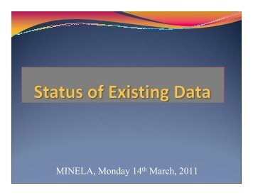 Collection of Existing Data. - REMA