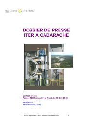 Dossier de presse [pdf] - iter france