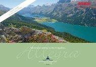 Mountain spring in the Engadine. - Grand Hotel Kronenhof