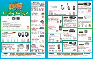 Holiday Savings! - Boat Owners Warehouse