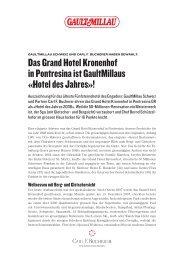 GaultMillau Hotel des Jahres 2008. - Grand Hotel Kronenhof