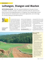 Leitungen, Stangen und Masten - Schweizerischer Bauernverband
