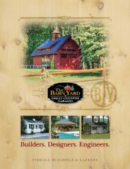 Storage Buildings & Gazebos Brochure - The Barn Yard and Great ...