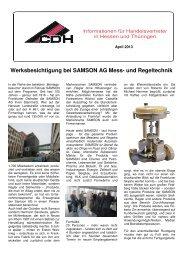 Werksbesichtigung bei SAMSON AG Mess- und Regeltechnik - CDH