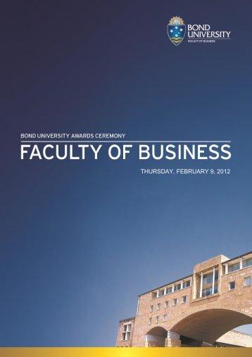 THURSDAY, FEBRUARY 9, 2012 - Bond University