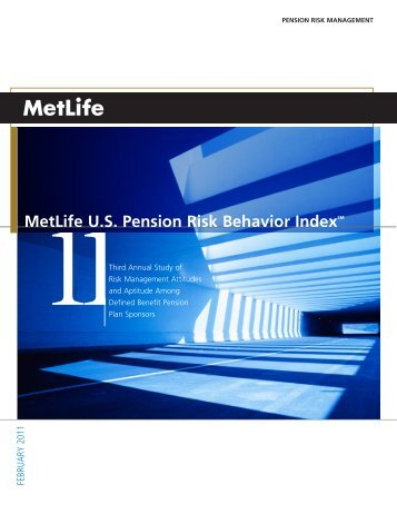 6 MetLife US Pension Risk Behavior IndexSM - Bdellium