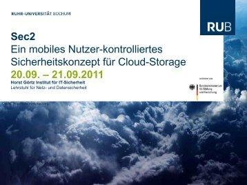 Slides - Lehrstuhl für Netz- und Datensicherheit - Ruhr-Universität ...