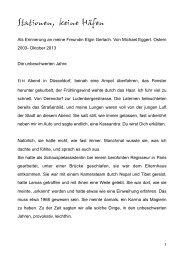 Erinnerungen (PDF) - Die Egoisten