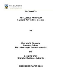 Affluence and Food: A Simple Way to Infer Incomes - The University ...