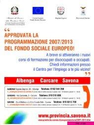 Provincia di Savona - FreePress Magazine