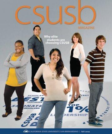 Why elite students are choosing CSUSB - CSUSB Magazine ...