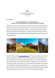 New Destination to see Autumn Leaves in Europe - Grand Hotel ...