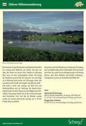Sihlsee-Höhenwanderung - Schwyzer Wanderwege