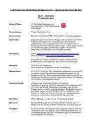 "1. LK Turnier des TC Rot Weiss Großbeeren e.V. – ""Tennis vor den ..."