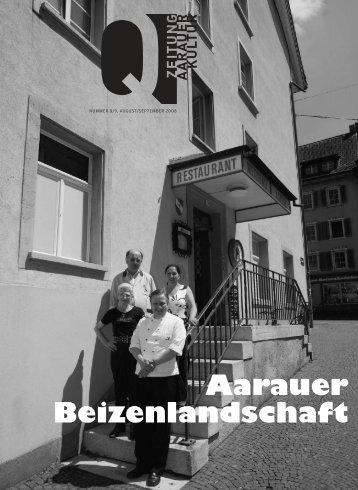 Aarauer Beizenlandschaft - Tobias Pingler