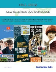 2012 Fall New Releases Catalogue - Visual Education Centre Blog
