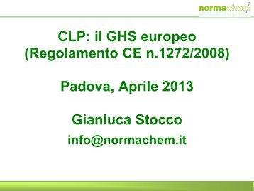 Lezione REACH 2/2013 - Normativa CLP